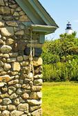Oil House and Bakers Island Light, Salem, Massachusetts