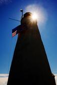 Silhouetted Bakers Island Light, Salem, Massachusetts