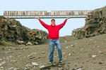 Bridge between Continents, Midlina, Sandvík, Reykjanes Peninsula, Iceland