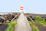 Old Gardur Lighthouse at Gardskaga, Reykjanes Peninsula, Iceland