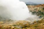 Steam Vent, Gunnuhver Geothermal Area, Reykjanes Peninsula, Iceland