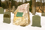 Ralph Waldo Emerson Grave in Winter, Sleepy Hollow Cemetery, Concord, Massachusetts