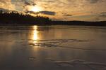 Walden Pond Sunset in Winter, Concord, Massachusetts