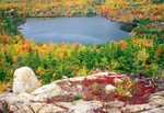 The Bowl in Autumn, Glacial Tarn, Acadia National Park, Mount Desert Island, Maine