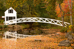 Somesville Historical Society Wooden Bridge in Autumn, Mount Desert Island, Somesville, Maine
