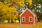 Historic Red One Room School, The Redstone Schoolhouse, Longfellow's Wayside Inn, Sudbury, Massachusetts