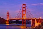Golden Gate Bridge at Night, San Francisco, California