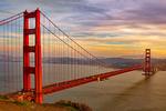 The Golden Gate Bridge from Marin at Sunset, San Francisco, California