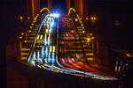 Car Streaks on the Golden Gate Bridge at Night, San Francisco, California