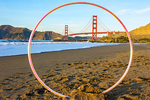 Golden Gate Bridge from Baker Beach, Golden Gate National Recreation Area, San Francisco, California