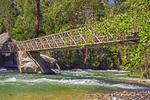 Bubbs Creek Suspension Bridge, Mist Falls Trail, Kings Canyon National Park, California