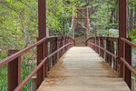 Zumwalt Meadow Suspension Bridge, Kings River, Kings Canyon National Park, California