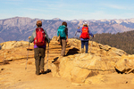 Hikers on Big Baldy Trail, Kings Canyon National Park, California