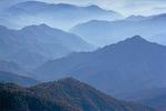 Mountain Layering from Big Baldy, Kings Canyon National Park, California