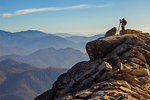 Photographer on Big Baldy Trail, Kings Canyon National Park, California