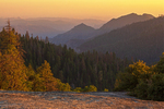 Mountains at Sunset from Sunset Rock, Giant Forest, Sequoia National Park, California