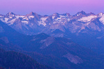 Alpenglow on The Great Western Divide Mountain Range from Moro Rock, Sequoia National Park, Californi
