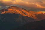 Evening Light on The Great Western Divide Mountain Range from Moro Rock, Sequoia National Park, California