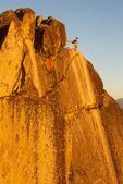 Hiker on Summit of Moro Rock, Sequoia National Park, California