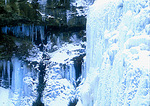 Ice covered Brandywine Falls