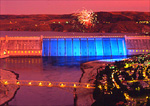 Grand Coulee Dam and July 4 fireworks and lightshow