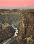 Moonset over Owyhee River Canyon