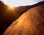 Glacier polish at sunrise