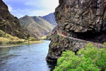 Snake River trail in Hells Canyon