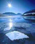 Frozen floes at Wallowa Lake