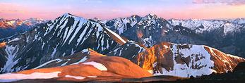 Sunset on the Wallowa Mountain Range
