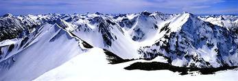 Wallowa Mountain Range in winter