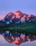 Sunset on Mt. Shuksan from Picture Lake
