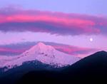 Sunset, Moonrise, and Mt. Hood