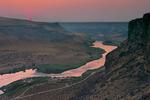 Smoky sunset, Snake River