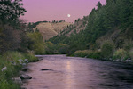 Moonrise over the Wallowa River