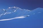 Ski mountaineer at Tenderfoot Pass