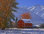 Autumn snow below the Wallowa Mountains