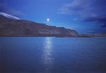Moonrise at Lake Celilo