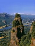St. Peters Dome, Mt. Adams, and Columbia River Gorge