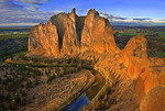 Sunrise on Smith Rock and Crooked River