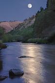 Moonrise above the Wallowa River