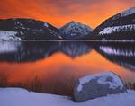 December sunset at Wallowa Lake