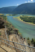 Trail up Beacon Rock by Columbia River