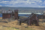 Abandoned structures at The Dalles Dam