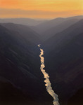 Snake River in the depths of Hells Canyon at sunrise