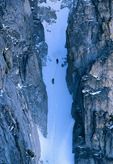 Climbers in couloir