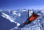 Ski bivouac in the high Wallowa Mountains