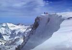 Ski mountaineers summiting Eagle Cap Mountain