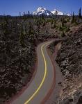 McKenzie Pass Highway through the McKenzie Lava Beds