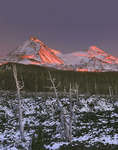 North and Middle Sisters from McKenzie Lava Beds